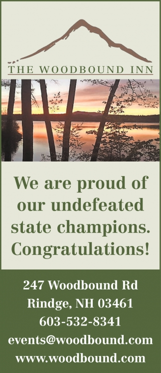 We Are Proud Of Our Undefeated State Champions