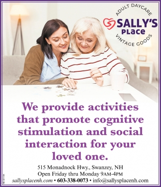 We Provide Activities That Promote Cognitive Stimulation And Social Interaction