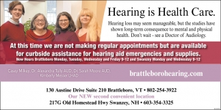 Hearing Is Health Care