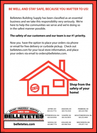 Shop From The Safety Of Your Home!