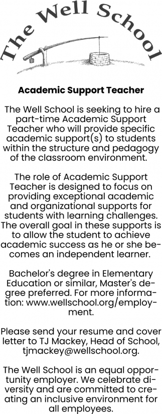 Academic Support Teacher