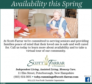 Availability This Spring