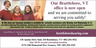 Our Brattleboro, VT Office Is Now Open