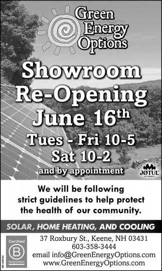 Showroom Re-Opening June 16th