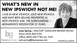 What's New In New Ipswich? Not Me!