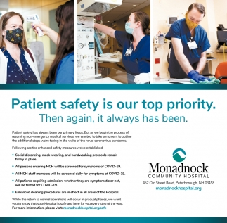 Patient Safety Is Our Top Priority.