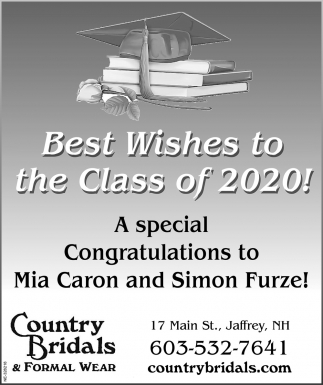 Best Wishes To The Class Of 2020!