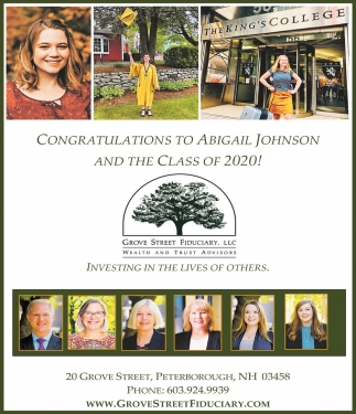 Congratulations To Abigail Johnson And The Class Of 2020!