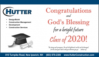 Congratulations And God's Blessing For A Bright Future Class Of 2020!