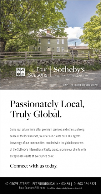 Passionately Local, Truly Global.