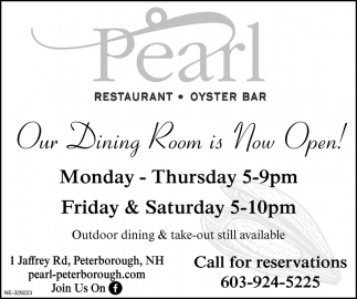 Our Dining Room Is Now Open!