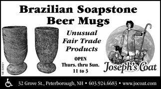 Brazilian Soapstone Beer Mugs