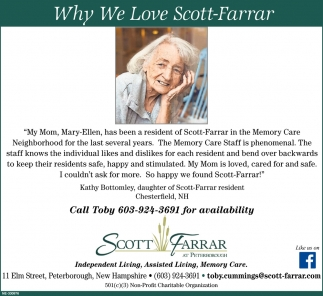 Why We Love Scott-Farrar