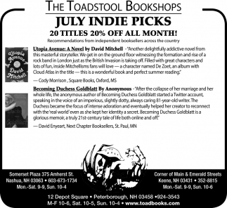 July Indie Picks