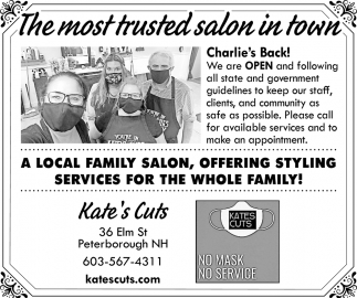 The Most Trusted Salon In Town