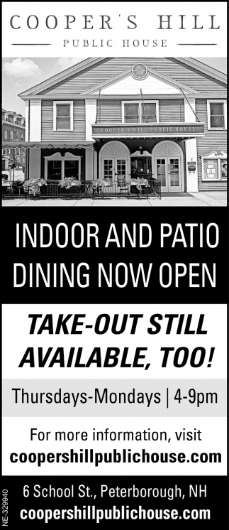 Indoor And Patio Dining Now Open