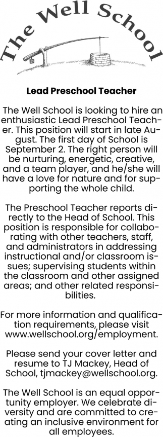 Lead Preschool Teacher