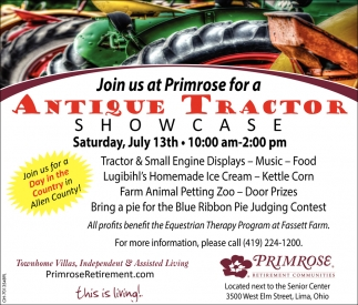 Join us at Primrose for a Antique Tractor Showcase