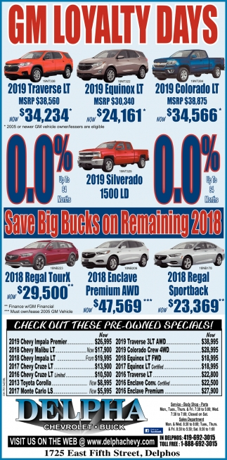 Save Big Bucks on Remaining 2018