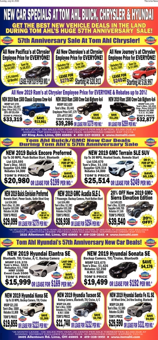 Tom Ahl's Huge 57th Anniversary Sale!
