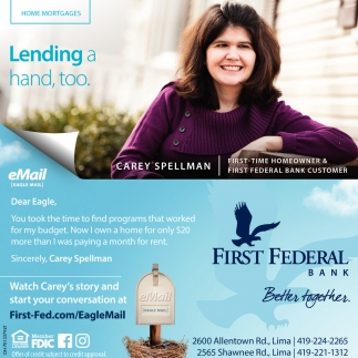 Home Mortgages - Lending a hand, too