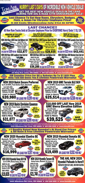 57Hurry! Last 3 days of incredible new vehicle deals!