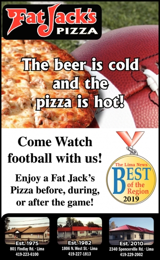 The beer is cold and the pizza is hot!