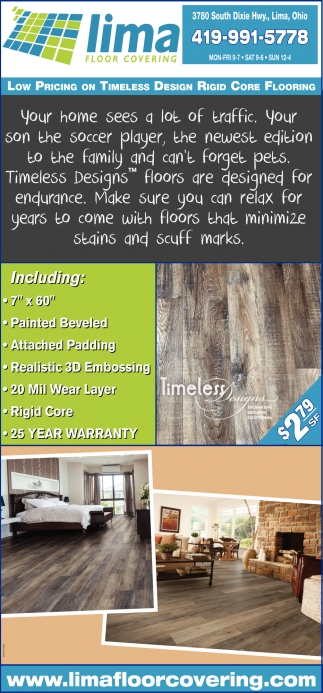 Low Pricing on Timeless Design Rigid Core Flooring