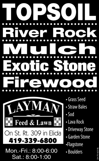 Topsoil ~ River Rock ~ Mulch ~ Exotic Stone ~ firewood