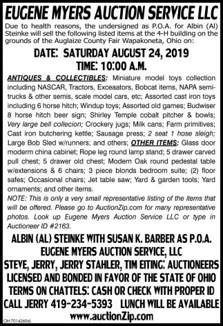 Auction August 24