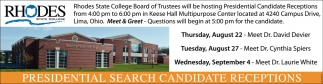 Presidential Search Candidate Recpetions