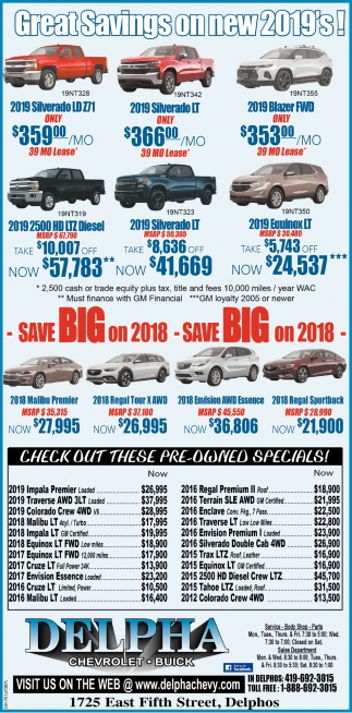 Great Savings on new 2019's!