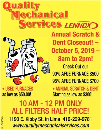 Annual Scratch & Dent Closeout! - October 5