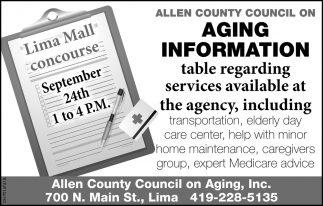 Allen County Council on Aging - Aging Information