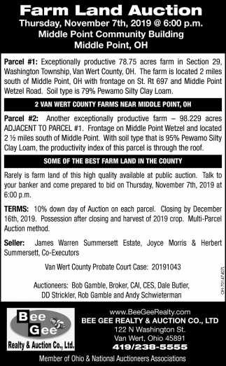 Farm Land Auction - November 7th