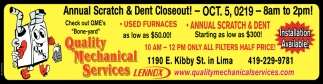Annual Scratch & Dent Closeout!