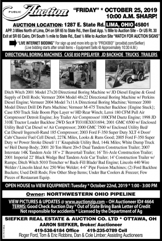 Public Auction - October 25