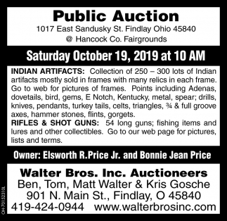 Public Auction - October 19
