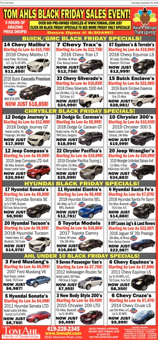 Buick/GMC Black Friday Specials!