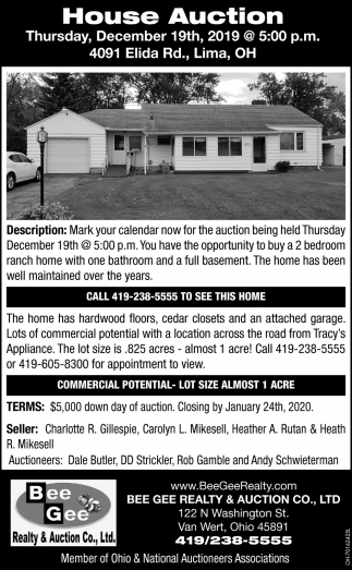House Auction - December 19th