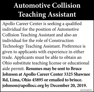 Automotive Collision Teaching Assistant