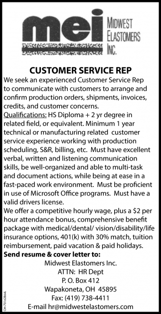 Customer Service Rep