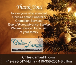 Thank You! to everyone attended Chiles-Laman Funeral & Cremation Services