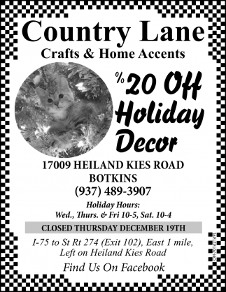 %20 Off Holiday Decor