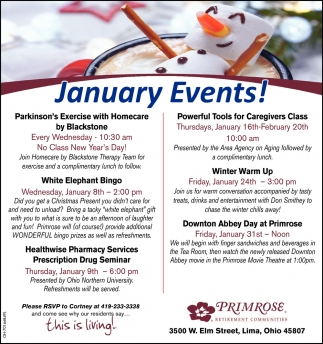 January Events!