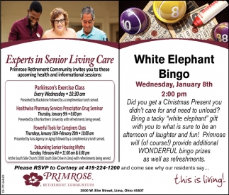 Experts in Senior Living Care | White Elephant Bingo