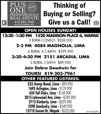 Thinking of Buying or Selling? Give us a Call!