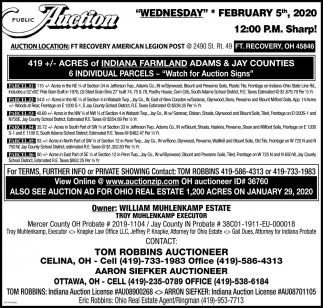 Public Auction - February 5th