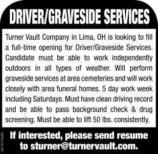Driver/Graveside Services