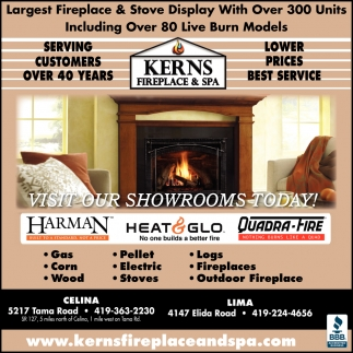 Largest Fireplace & Stove Display With Over 300 Units, Including Over 80 Burn Models